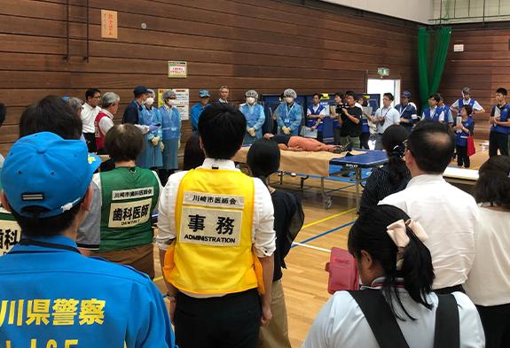 川崎市の総合防災訓練に参加致しました。
