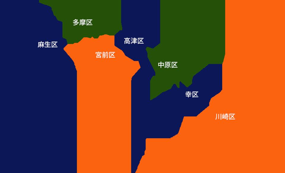 川崎市マップ